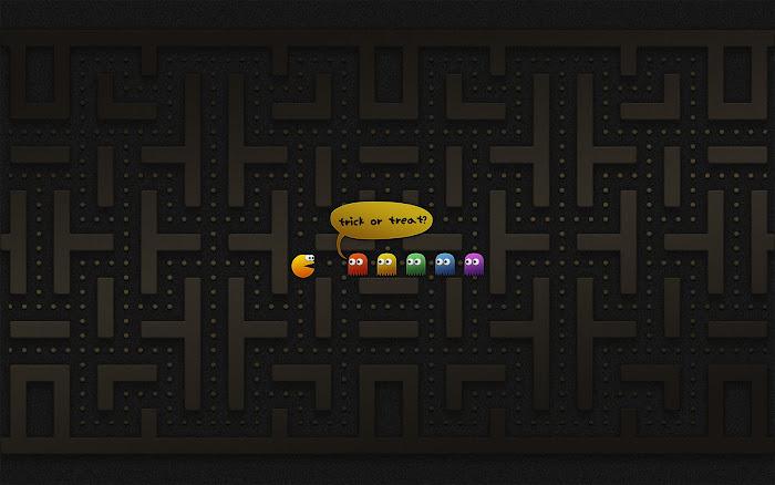 Hình nền đa phong cách về game Pacman - Ảnh 4