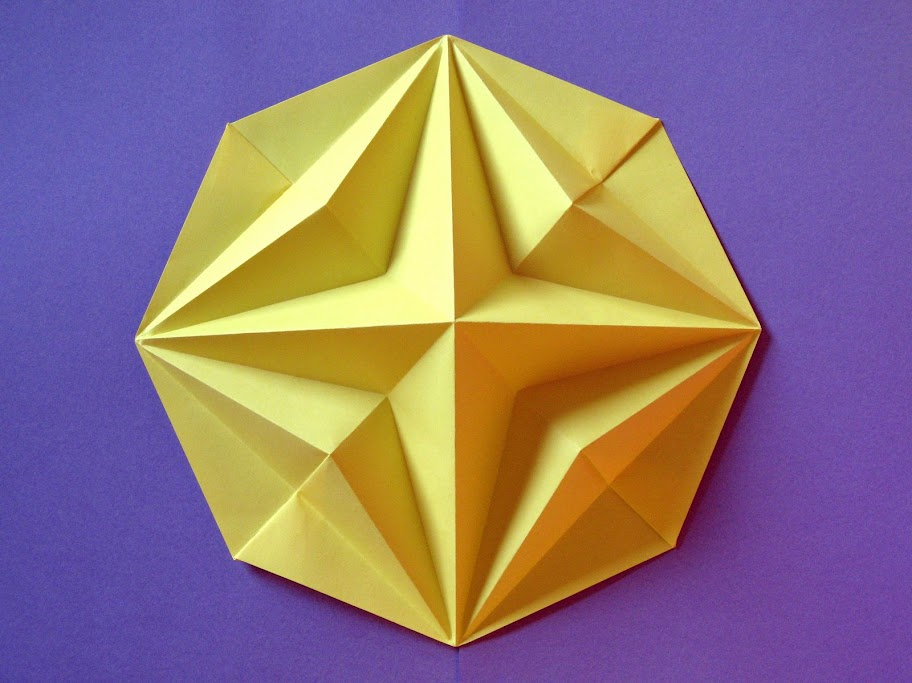 origami foto Stella in ottagono 2 - Octagonal Star 2 by Francesco Guarnieri