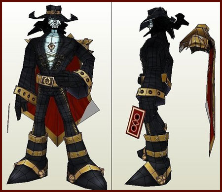Twisted Fate Papercraft