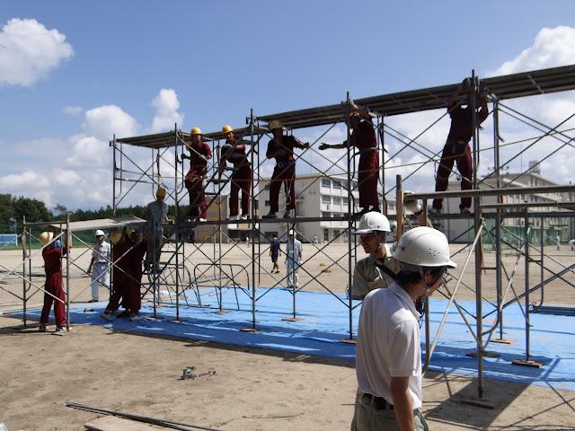 Đơn hàng lắp đặt giàn giáo cần 9 nam làm việc tại Osaka Nhật Bản tháng 07/2017
