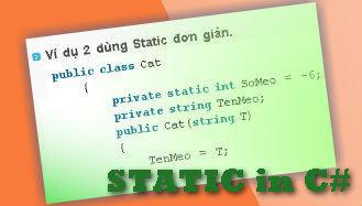 static keyword, static c#