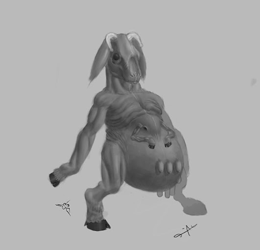 DSG 1647: Horror/Creature • COW METAMORPHOSING INTO ALIEN-COW HYBRID