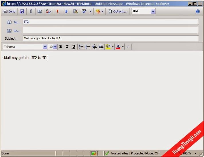 Cấu hình kiểm soát mail Journal Policy