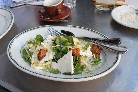 Pressed ricotta and artichoke salad from Delfina.