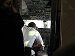 Our pilot was taking a nap on the instrument panel before the flight....not a good sign!