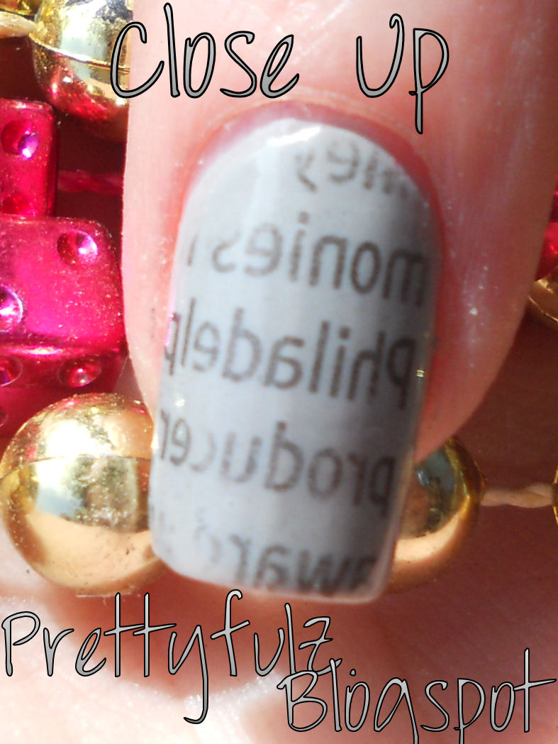Prettyfulz: NEWSPAPER NAIL DESIGN | Super Easy Newspaper Nail Art Design