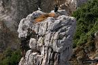 Estatuilla en la roca