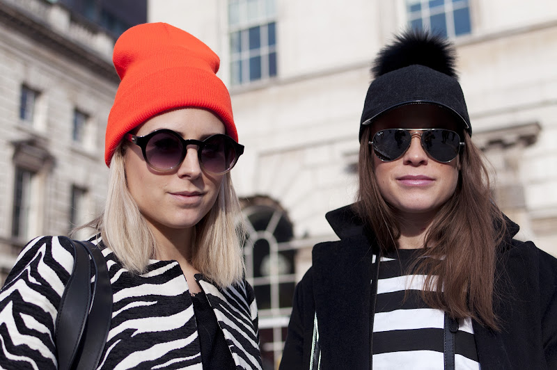 Black and White with a Pop of Color at London Fashion Week