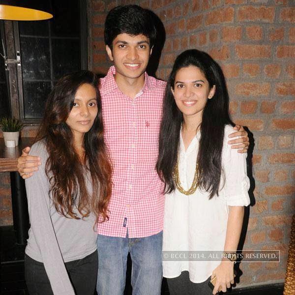 Sanghmitra, Yajnavalkya and Maitreyi Jichkar during Dr Sameer Arbat's success party at Hotel Travotel in Nagpur.