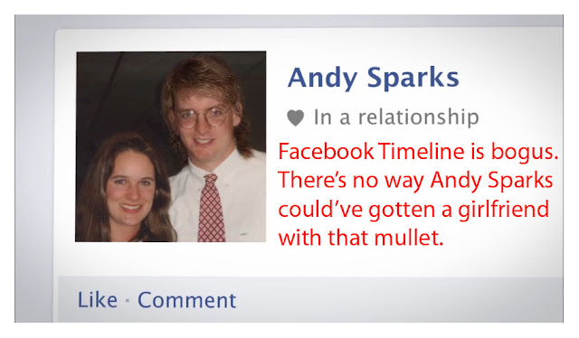 Andy Sparks Mullet is Chick Repellent
