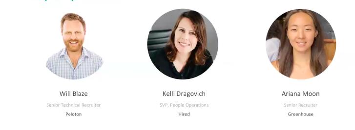 Three speakers from the Digging Deep: Growing Responsibly webinar