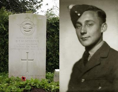Sergeant B.T.H. (Berthram Thomas Hanley) Scudder Flight Engineer Royal Air Force 434 (R.C.A.F.)
