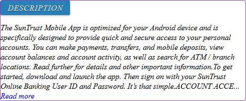 apk share: suntrust online banking personal