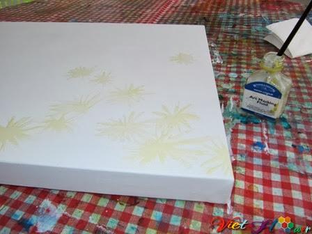 vẽ Hoa cúc (Daisy) bằng màu nước