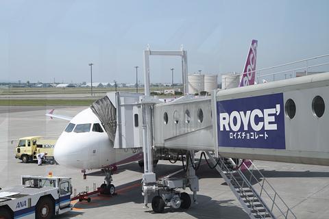 peach A320 新千歳空港 搭乗中