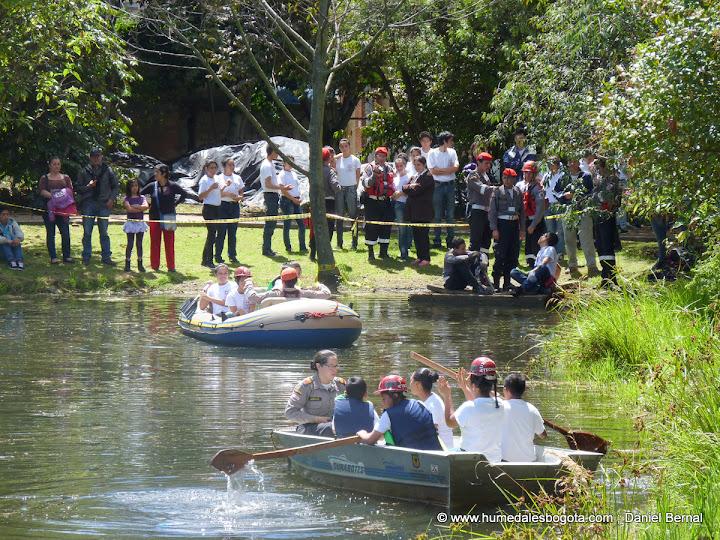 Pruebas náuticas en el humedal Santa María
