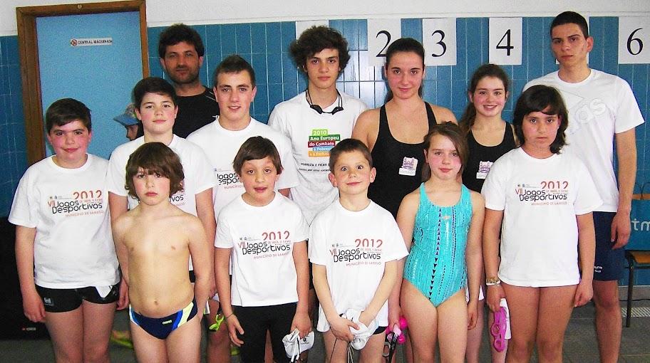 Jovens nadadores de Lamego sobem ao pódio em prova distrital