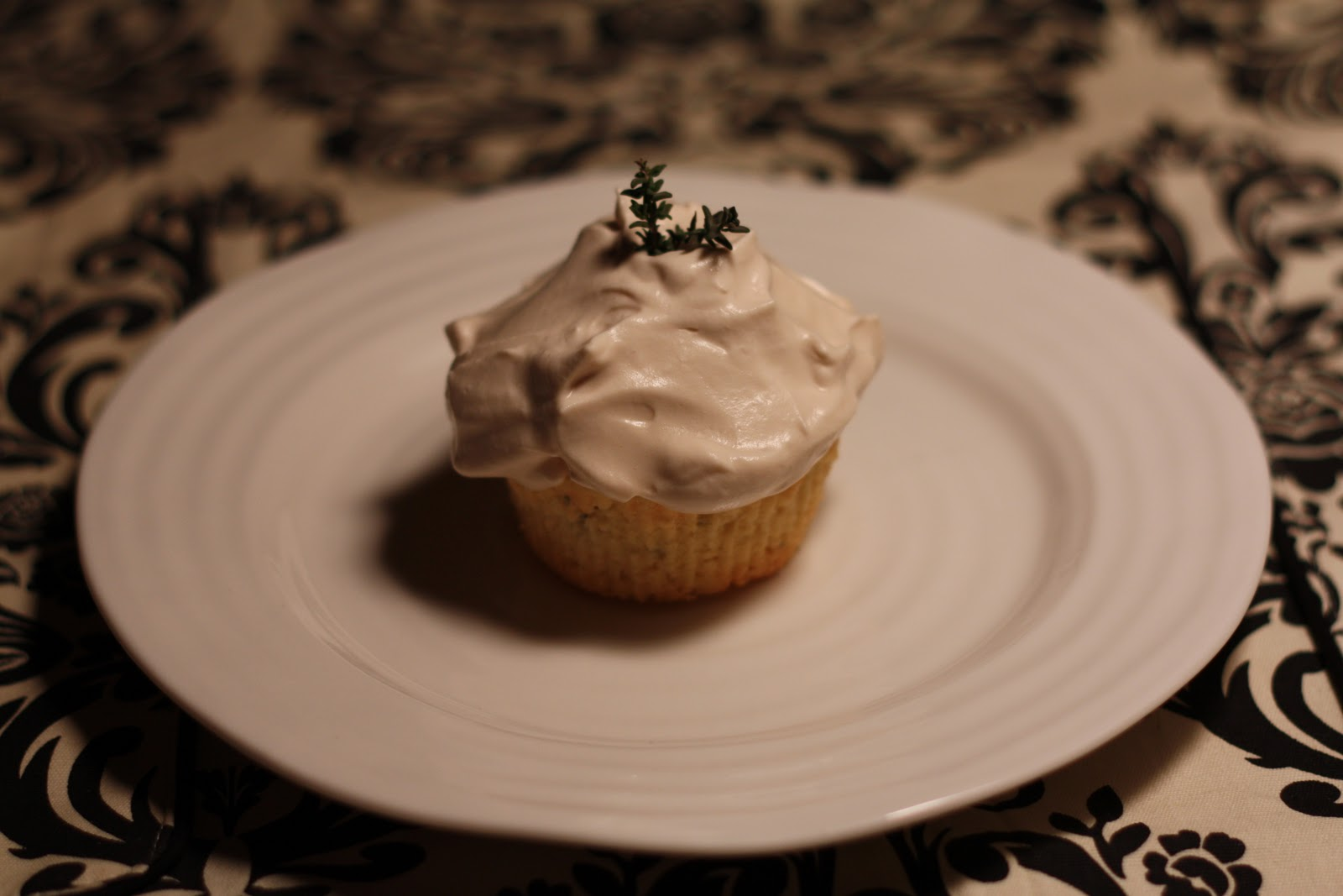 Flourishing Foodie: Olive Oil Cupcakes with Lemon, Thyme ...