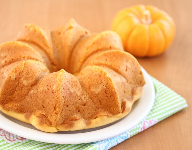 close-up photo of a Eggless Pumpkin Custard Cake