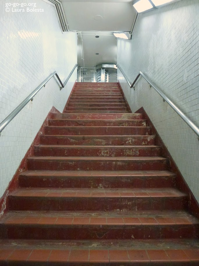 Everyday Photo: Subway Stairs by Laura Bolesta