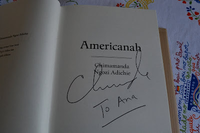 Signed copy of Americanah