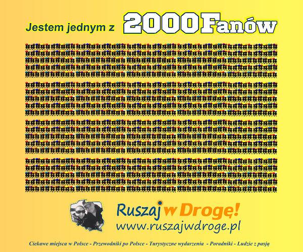 2000 fanów Ruszaj w Drogę na Facebooku