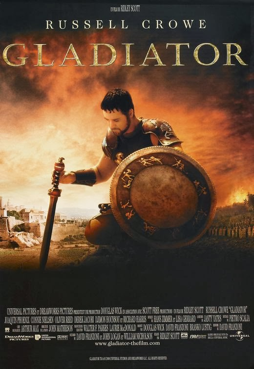 Poster Of Gladiator (2000) Full Movie Hindi Dubbed Free Download Watch Online At Alldownloads4u.Com