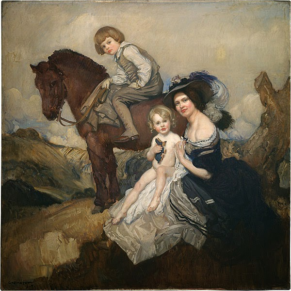George Lambert - Portrait group (family group)