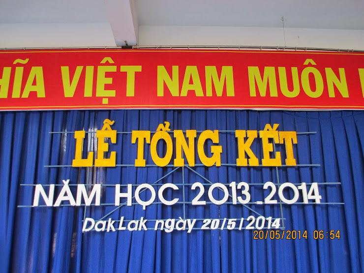 Lễ tổng kết năm học 2013-2014