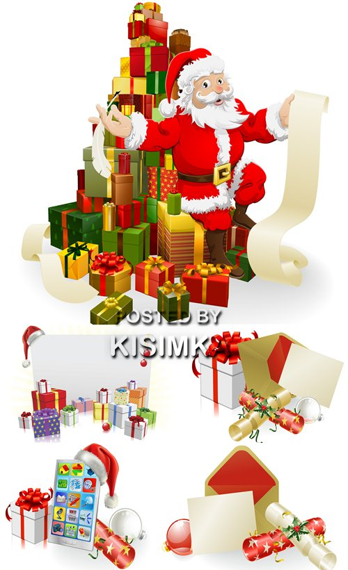 Stock Photo: Christmas letter or invite scene