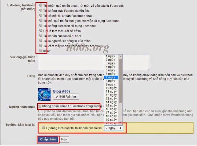 khóa facebook tạm thời hoặc xóa vĩnh viễn