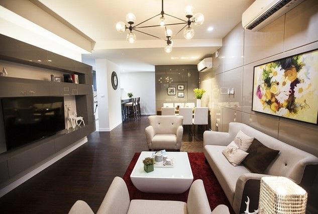 Không gian hiện đại trong căn hộ