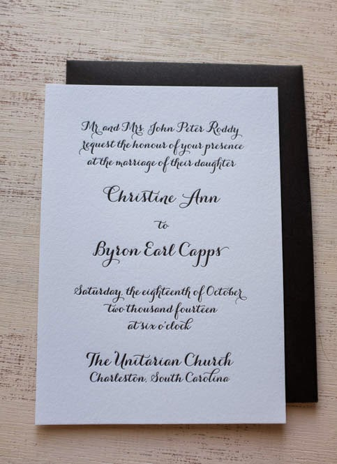 wedding reception cards archives custom letterpress wedding
