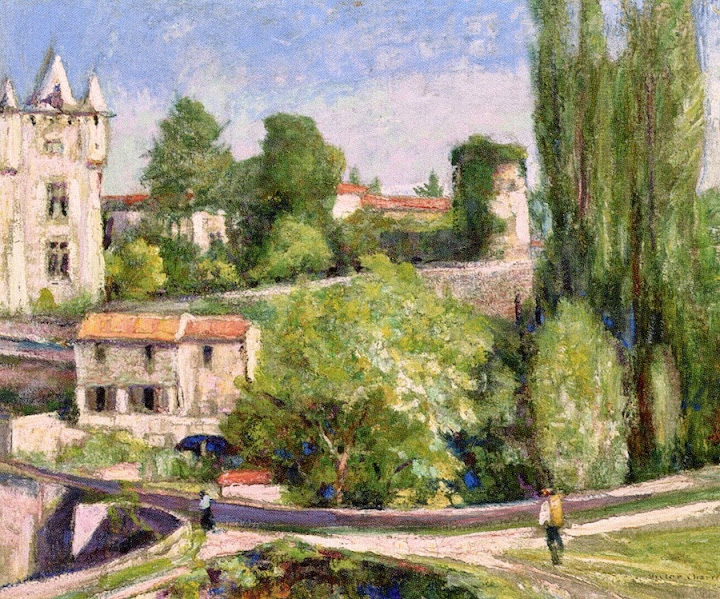 Victor Charreton - Chateau above the River