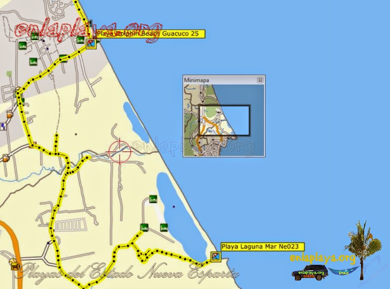 Mapa de Playas del sector LagunaMar