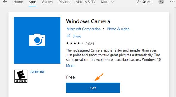 Windows Camera Not Working