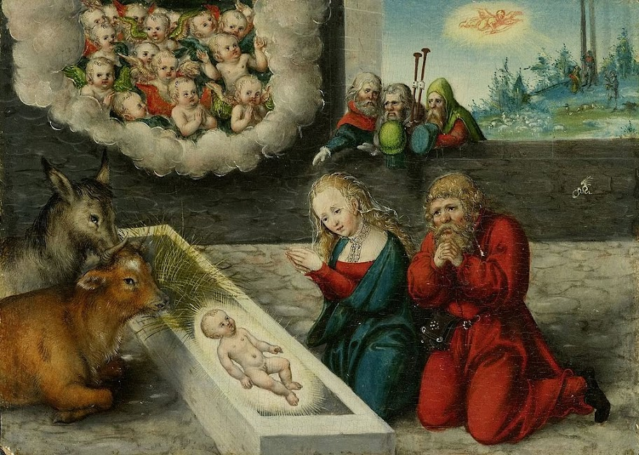 Lucas Cranach the Elder - Adoration of Christ.