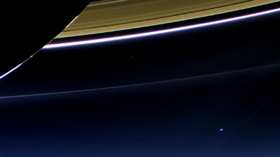 Saturn view of Earth