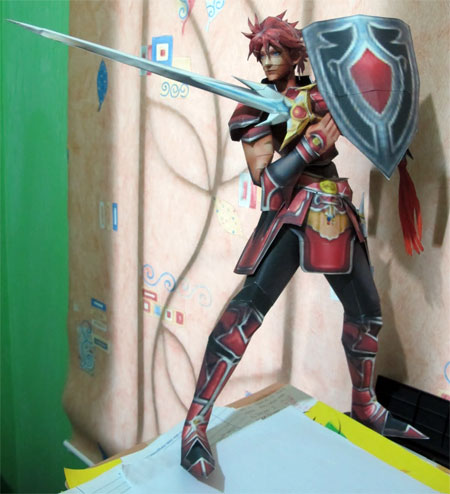Dissidida 012 Final Fantasy Classic Red Warrior of Light Papercraft