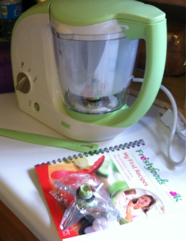 NUK Freshfoods Cook-n-Blend Baby Food Maker Free Recipe Book Annabel Karmel