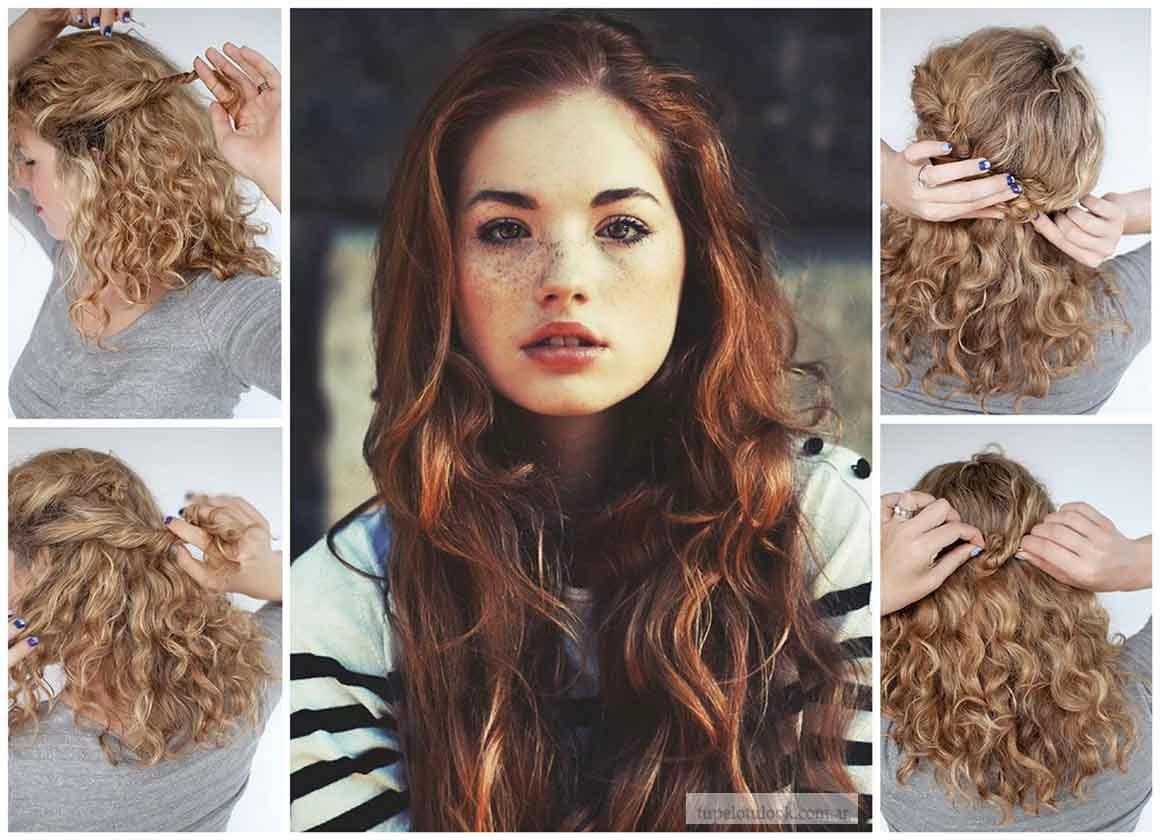 Peinados de fiesta faciles para cabello rizado