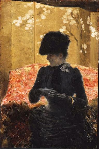 Giuseppe de Nittis - Dame au divan rouge