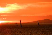 J Teams sailing- sunset sail off Melbourne, Australia