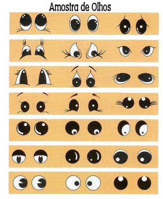 Образцы оформления мордочек и лиц
