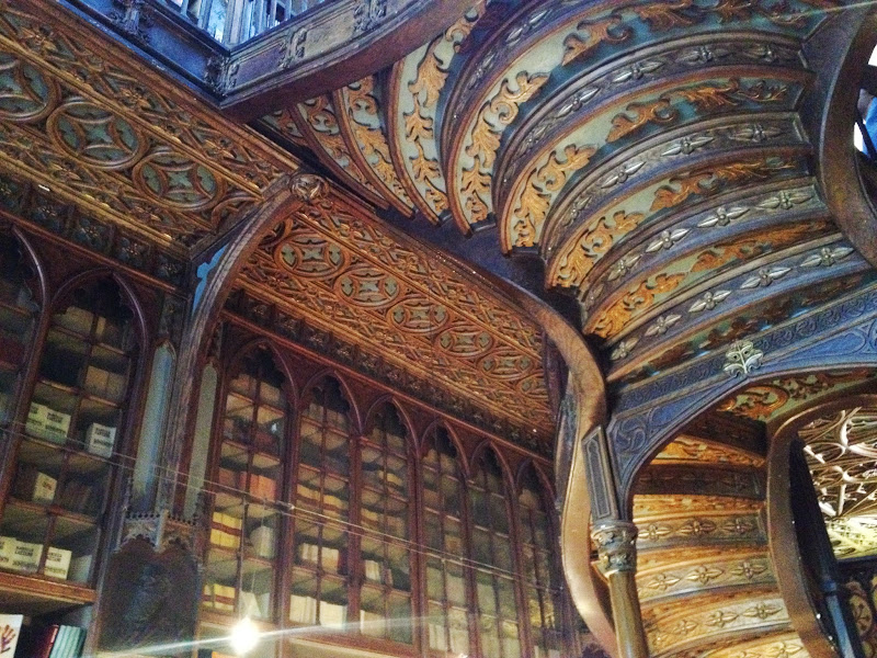 The underside of the staircase in Livraria Lello, Porto