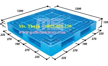 Pallet nhựa 1200 x 1200mm