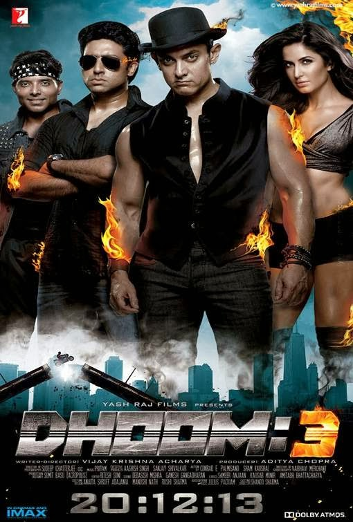 Poster Of Hindi Movie Dhoom 3 (2013) Free Download Full New Hindi Movie Watch Online At Alldownloads4u.Com