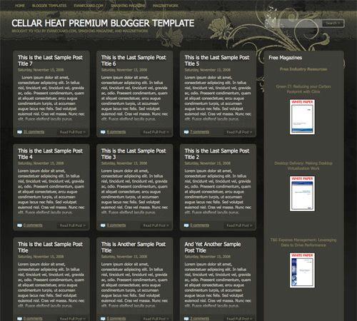 Cellar Heat template blogger
