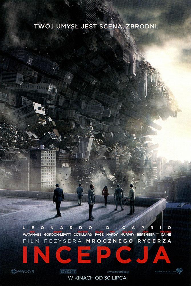 Ulotka filmu 'Incepcja (przód - wersja B)'