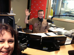Felicity Moore in the ABC studio with Spencer Howson